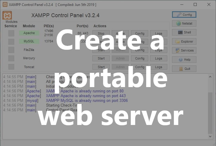 Portable Web Server Installation